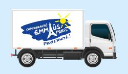 Camion de ramassage Emmaüs