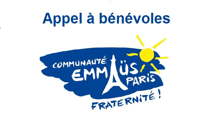 appel à bénévoles chez Emmaüs Paris